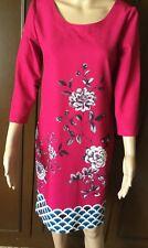 Stunning dress AMANITE Woman, fuchsia color, size 42, elasticized  Abito Donna