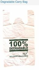 3000 Degradable 100%25 Plastic Shopping carry bags,  500mm x 260mm x 120mm