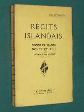 Récits islandais Jon SVENSSON