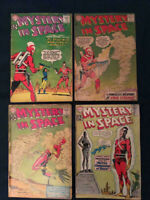 MYSTERY IN SPACE Silver Age lot of 4 Comics: #70,74,79 & 80 - Average around G