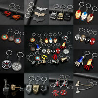 Alloy Avengers Batman Keychain Movie Superhero Key Rings Bag Pendant Hang Gifts