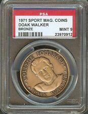 1971 Doak Walker Sport Magazine Top Performers Coin Bronze PSA 9 MINT SMU