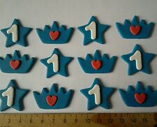 24 x cupcake cake toppers birthday party crowns stars edible decorations