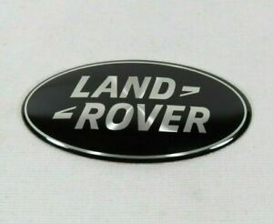 LAND ROVER GRILLE EMBLEM BLACK/SILVER OVAL BADGE sign symbol logo