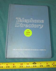 1979 Telephone Directory LOUISVILLE & NASHVILLE RAILROAD in Vinyl Notebook #2692