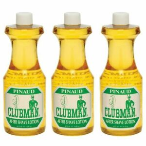 CLUBMAN PINAUD Barber Men After Shave Cologne Fragrance 16 oz 3 x BB-403400