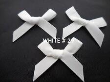 Small Satin Ribbon Bows-3cm-Pre Tied-Pack of 10/25-(7mm Ribbon)-Wedding,Crafts