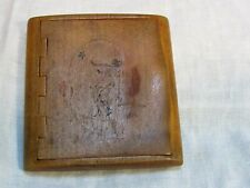 Antique Art Deco Wood Cigarette Case Flapper Girl Inlay Russian ?