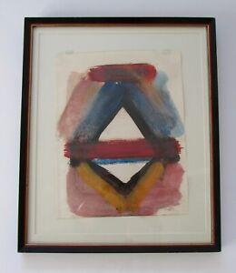 Robert Kaupelis New York Modernist Watercolor Painting 1928- 2009