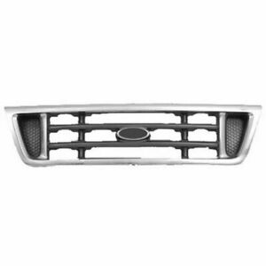 Front Grille Chrome/Platinum fits 2003 2004 2005 2006 2007 Ford Econoline Van