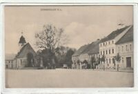 Ansichtskarte Sonnewalde/Niederlausitz - Partie am Markt/Denkmal/Kirche - 1915