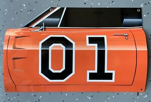 WOW! Curved Dodge Charger Dukes Of Hazzard General Lee Door 3D Sign
