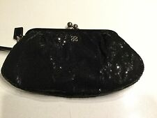 Coach  Special Occasion Sequin Framed Large Wristlet Clutch coach Black