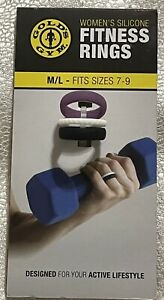 Gold's Gym Women's Silicone FITNESS RINGS M/L Sizes 7-9 Purple, Black, White
