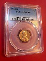 1963-D 1C Rd Lincoln Mémorial un Cents PCGS MS64RD
