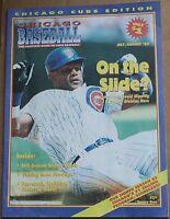 2003 Chicago Cubs JUL/AUG Baseball Program Scorecard Sammy Sosa Cover