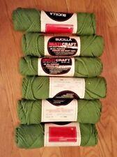Bucilla Multi-craft green acrylic fashion/craft yarn 6 2 oz skeins NEW!