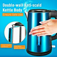 Electric Tea Kettle 1.8L Stainless Steel Fast Boiling Coffee Boiler Cordless LED