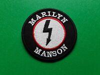 PUNK ROCK HEAVY METAL MUSIC SEW / IRON ON PATCH:- MARILYN MANSON