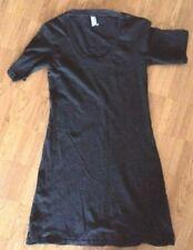 American Apparel black short sleeve cotton T shirt  tunic dress XS