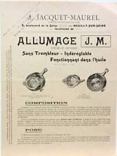 1906 ALLUMAGE JM A BAIN D'HUILE MOTO ET AUTO AVANTAGES SCHEMA CONSEILS