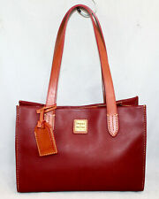 DOONEY & BOURKE Classy Square Structured Shoulder Bag Burgundy Cranberry Red