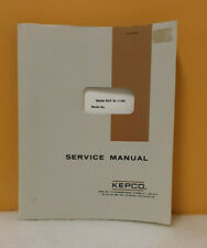 Kepco 146 0045 Bop 36 5 M Bipolar Operational Power Supply Instruction Manual