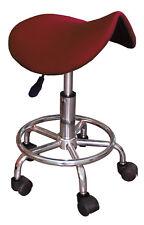 TABOURET ergonomique selle cerise roulettes télescopique réglable pivotant VIALA