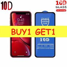 100% Genuine 10D Tempered Glass Screen Protector For iPhone XS - Black