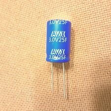 25F (Farad). 3V Capacitor. Supercapacitor. Ultracapacitor. Very Low ESR.