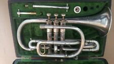Cornet, Keefer, Bb, Silver plate and Gold washed 1917/1918