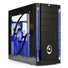 AVP GALAXY ATX a LED blu III Gaming Case & SIDE Window & LIGHTUP TUBI & LATO VENTOLA