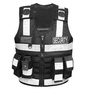 Warn Weste Sicherheitsweste Security Einsatzweste Schutzweste Pannenweste 5-6XL