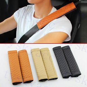 Auto Seat Safe Belt Cover Pad Shoulder Harness Protective Cushion Accessories 2X