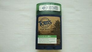 Tom's Of Maine Natural Solid 48 Hour Deodorant For Men North Woods NEW