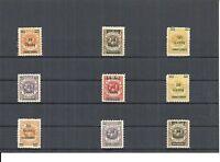 Memel, 1920 - 1923, Einzelmarken aus MiNrn: 13 d - 233 *, BPP, ungebraucht *