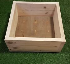 Wooden garden planters from reclaimed wood