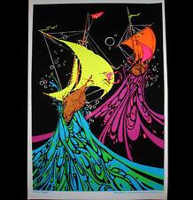 """1972 """"TEMPEST"""" SAILBOAT VINTAGE BLACKLIGHT POSTER ORIGINAL VINTAGE RARE PINUP"""