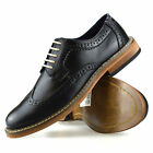 Mens New Casual Formal Office Smart Work Party Lace Up Oxford Brogue Shoes Size