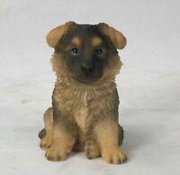 German Shepherd Puppy Dog Figurine - Life Like Statue Decor Home / Garden New