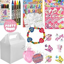 Childrens Wedding Activity Packs Party Favour Gift Bags Kids Pre Packed Boxes