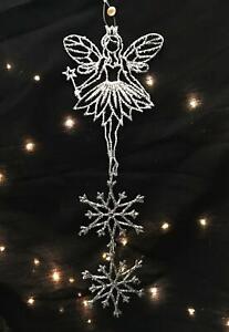 """""""Silver Sparkle"""" Christmas Fairy Decoration"""