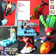 Burger King Justice League 7 toy 2003 Superman WonderWoman Hawkgirl Flash New
