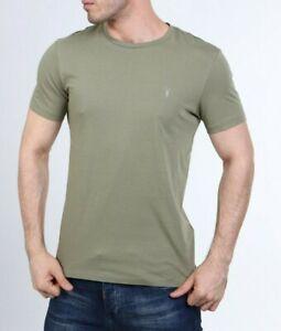 All Saints Mens Forest Green Tonic Crew Logo Cotton T-Shirt Tee S M L XL XXL