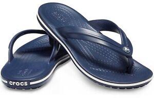 12+ colors Women's CROCS Crocband Flip Flops Thong Sandals sizes 4 - 11