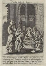 Antique Religious Print from Book of Prayer - CHRIST'S NATIVITY - 1708
