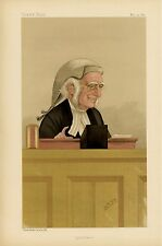 JUDGE HENRY COTTON PRIVY COUNSELLOR LITHOGRAPH VANITY FAIR CARICATURE BY SPY