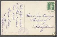 SWITZERLAND 1911 POST CARD