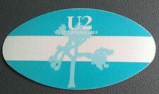 1987 U2 The Joshua Tree Backstage Pass Blue