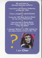 CHER Lapierre Pop Diva Star Singer Actor 2006 QUIZ GAME TRIVIA PHOTO CARD